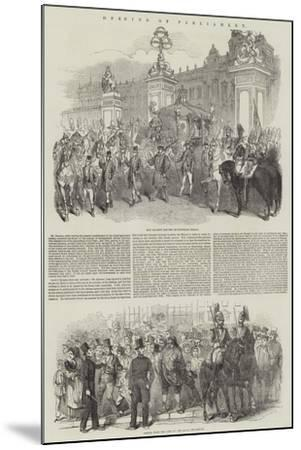 Opening of Parliament--Mounted Giclee Print