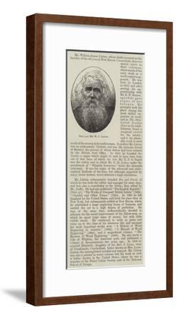 The Late Mr W J Linton--Framed Giclee Print