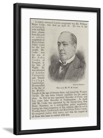 The Late Mr W M Cooke--Framed Giclee Print