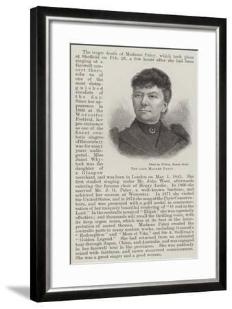 The Late Madame Patey--Framed Giclee Print