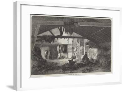 A Rag Warehouse in Paris--Framed Giclee Print