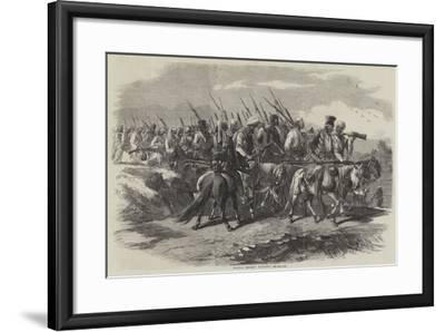 Tantia Topee's Soldiery--Framed Giclee Print