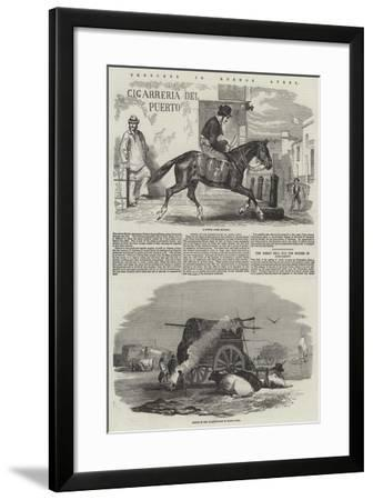 Sketches in Buenos Ayres--Framed Giclee Print