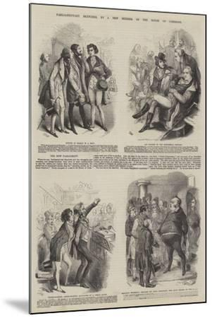 Parliamentary Sketches--Mounted Giclee Print