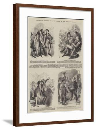 Parliamentary Sketches--Framed Giclee Print