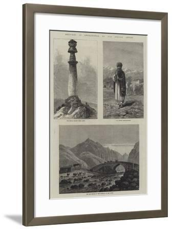 Sketches in Afghanistan--Framed Giclee Print