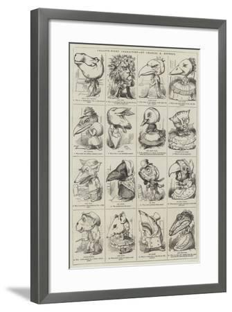 Twelfth-Night Characters--Framed Giclee Print