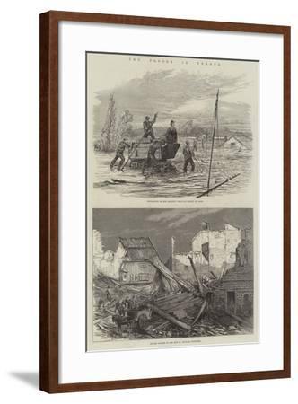 The Floods in France--Framed Giclee Print