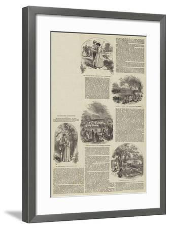 Illustrated Literature--Framed Giclee Print