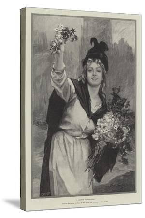 A London Flower-Girl--Stretched Canvas Print