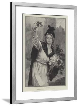 A London Flower-Girl--Framed Giclee Print