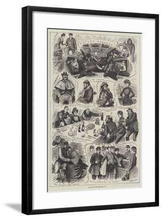 Crossing the Channel--Framed Giclee Print