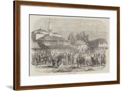 A Street at Schumla--Framed Giclee Print