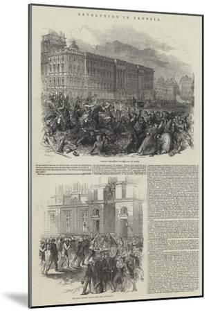 Revolution in Prussia--Mounted Giclee Print