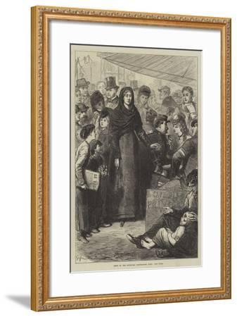 Scene of the Boulevard Montmartre, Paris, Une Folle--Framed Giclee Print