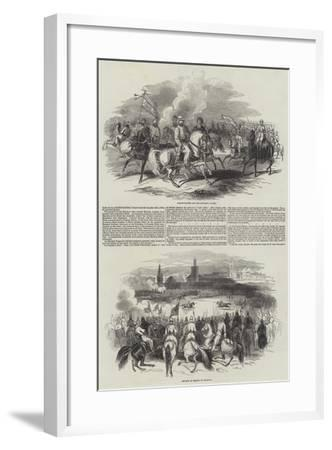 France and Morocco--Framed Giclee Print