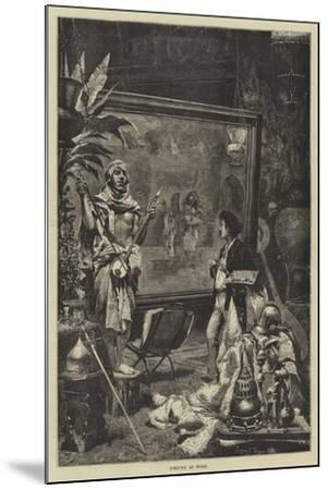 Fortuny at Work--Mounted Giclee Print
