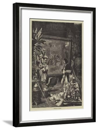 Fortuny at Work--Framed Giclee Print