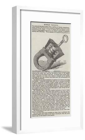 Russian Padlock--Framed Giclee Print
