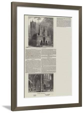Lincoln Cathedral--Framed Giclee Print