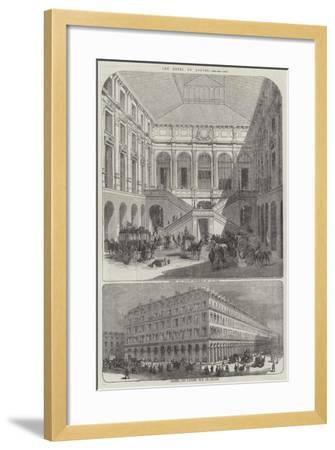 The Hotel Du Louvre--Framed Giclee Print