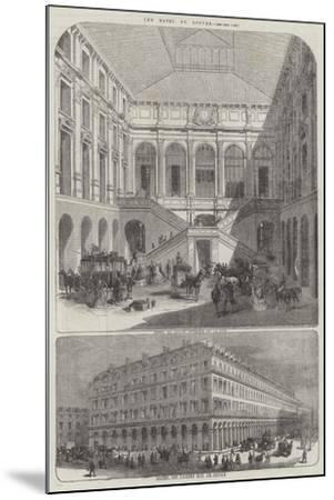 The Hotel Du Louvre--Mounted Giclee Print