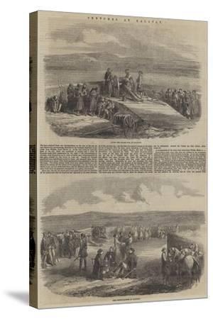 Sketches at Kalafat--Stretched Canvas Print