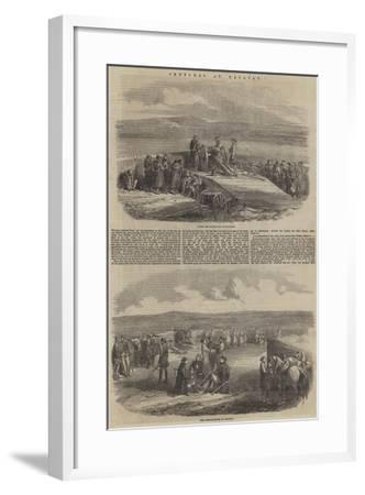 Sketches at Kalafat--Framed Giclee Print
