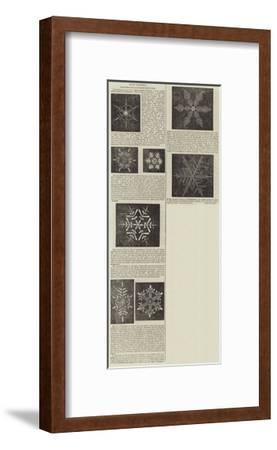 Snow Crystals--Framed Giclee Print