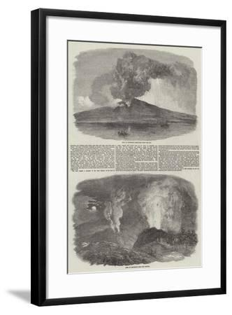 Etna in Eruption--Framed Giclee Print