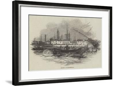 Diving at Blackwall--Framed Giclee Print