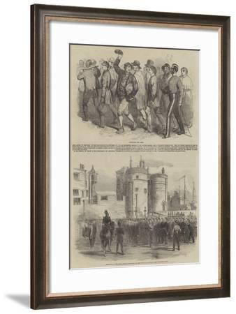 Recruiting the Army--Framed Giclee Print