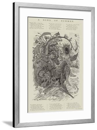 A Song of Summer--Framed Giclee Print