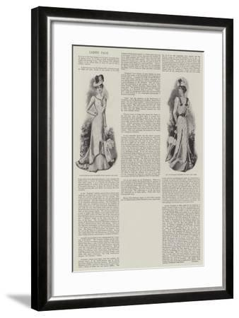Ladies' Page--Framed Giclee Print