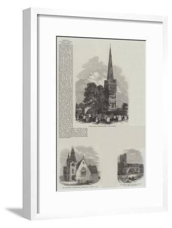 British Churches--Framed Giclee Print