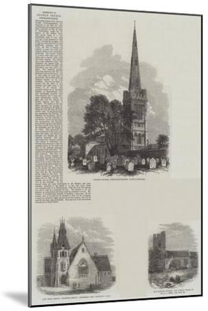 British Churches--Mounted Giclee Print