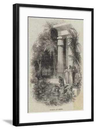 Finding of Moses--Framed Giclee Print