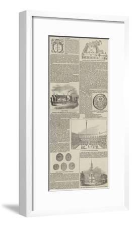 The Royal Exchange--Framed Giclee Print