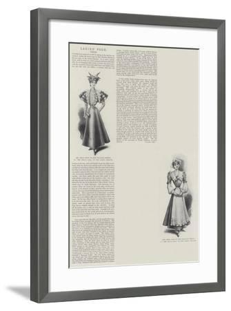 Ladies' Page, Dress--Framed Giclee Print