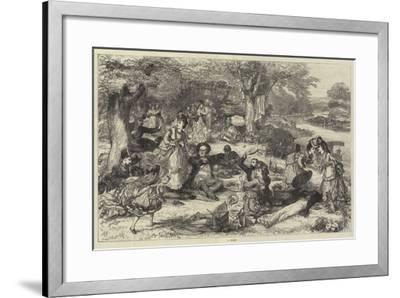 A Picnic--Framed Giclee Print