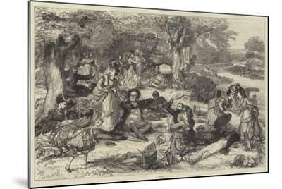 A Picnic--Mounted Giclee Print