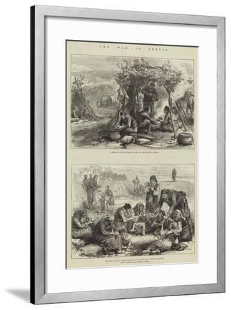 The War in Servia--Framed Giclee Print