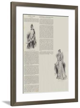 Ladies' Page, Dress--Framed Giclee Print
