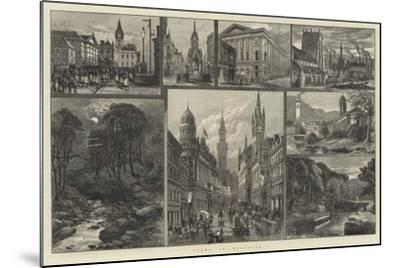 Views in Bradford--Mounted Giclee Print