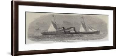 New Steam-Ship Giraffe for the Glasgow and Belfast Royal Mail Line--Framed Giclee Print