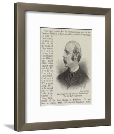 Lieutenant-Colonel Charles Wigram Long, the New Mp for Evesham--Framed Giclee Print