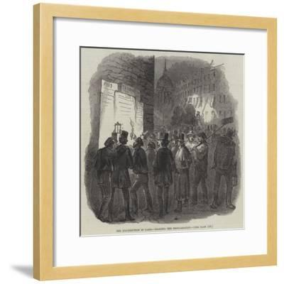 The Insurrection in Paris, Reading the Proclamation--Framed Giclee Print