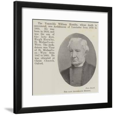 The Late Archdeacon Hornby--Framed Giclee Print
