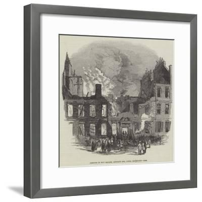 Remains in New Square, Lincoln's Inn, after the Recent Fire--Framed Giclee Print