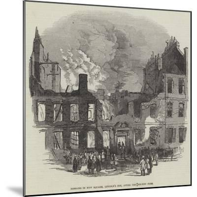 Remains in New Square, Lincoln's Inn, after the Recent Fire--Mounted Giclee Print